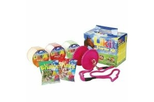 LIKIT Starter Kit for Horses or Ponies Licks, Holder & Treats Pink