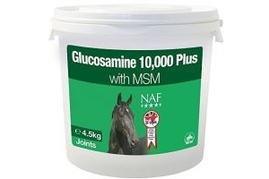 Naf Naf NAF - Glucosamine 10000 Plus with MSM Horse Joint Supplement x Size: 4.5 Kg