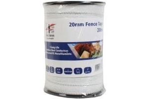 Fenceman Electric Tape White 200m