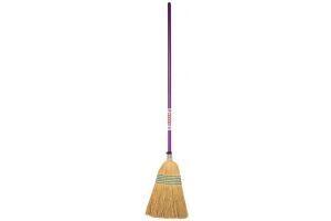 Faulks Corn Broom Large Purple