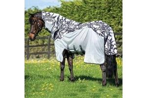Amigo 3-in-1 Vamoose Pony/Horse Fly Rug - Silver/Black: 6ft9 by Horseware