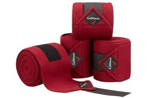LeMieux Luxury Polo Bandages - Burgundy