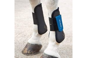 Shires Arma Tendon Boots - Black/Royal Blue: Cob