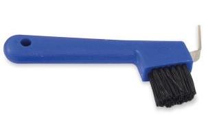 Shires Hoof Pick & Brush Blue