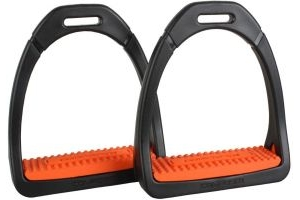 Shires Adults Compositi Premium Profile Stirrups Orange