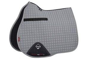 LeMieux Unisex's ProSport Cotton GP Square Saddle Pad, Grey, Small/Medium