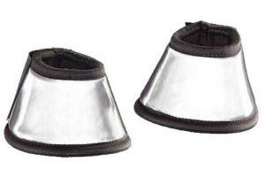 Harry Hall Hi-Viz Over Reach Boots (Pony) (Silver)