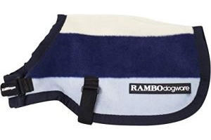 Horseware Rambo Dog Rug Deluxe Whitney Stripe, XX-Small, Navy
