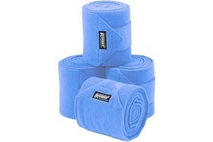 Roma Thick Polo Bandages 4 Pack Baby Blue One Size