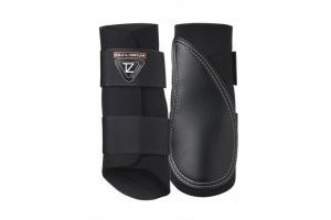 equilibrium Tri-Zone Horse Brushing Boot Large Black x Pair