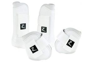Horze Advanced ProTec Boot Set With Protective PVC Shell And Neoprene Lining, Eggplant Dark Purple, Steel Grey, Dark Nav