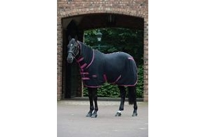 Weatherbeeta Fleece Combo Neck Cooler Rug 4ft6 Black Boysenberry