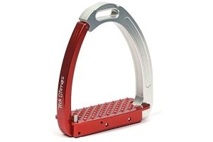Tech Venice Adult Safety Stirrups (Silver/Red)