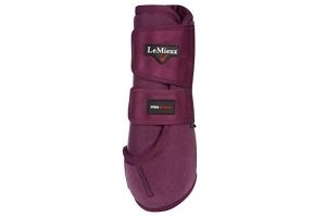 LeMieux Unisex's ProSport Pair Support Boots, Plum, Medium
