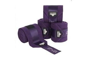 LeMieux Unisex's Loire Satin Polo Bandages Blackcurrant Set of 4, Full