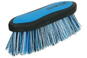 Shires 1490 Ezi-Groom Long Bristle Dandy Brush: Bright Blue