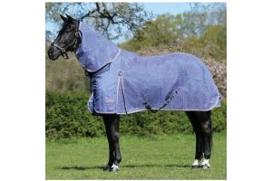 WeatherBeeta Ripshield Plus Combo Fly Rug Blue/Pink