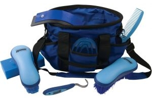 Roma Deluxe Carry Bag 7 Piece Grooming Kit Blue