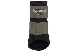 LeMieux Unisex's ProSport Grafter Brushing Boots Pair, Olive, Large