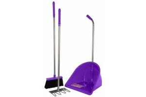 RED GORILLA PURPLE STABLE TIDEE COMPANION SET RAKE BRUSH HORSE EQUINE MUCK OUT