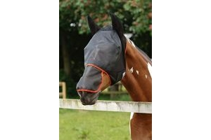 equilibrium - Field Relief Max Horse Fly Mask Xlarge Black/Orange