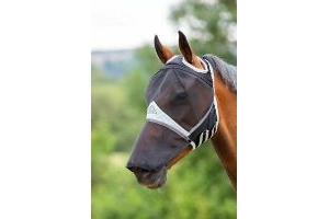 Shires Fine Mesh Fly Mask With Ear Holes & Nose - S/Pony - Black