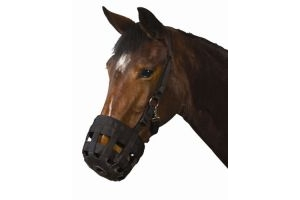Roma Pony/Horse Grazing Muzzle - Black: Pony