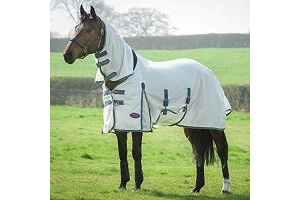 Weatherbeeta Comfitec Airflow Combo Neck Turnout Rug (5 ft 9) (White/Sea Green/Pink)