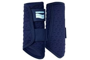 equilibrium Stretch And Flex Flatwork Exercise Wrap Large Navy
