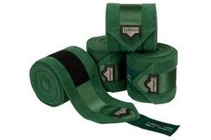 LeMieux Unisex's Loire Satin Polo Bandages Hunter Green Set of 4, Large