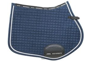 Weatherbeeta Prolux All Purpose Full Size Saddle Pad - Navy Blue/Silver