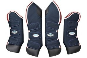 Weatherbeeta Deluxe Travel Boots Navy/Red/White Warmblood