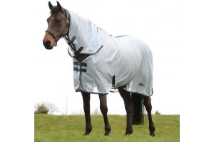 Saxon Mesh Combo Neck Fly Rug Light Blue/Claret/Dark Blue