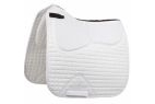 LeMieux Lambskin Pro-Sorb System Half Lined Dressage Square - Natural Wool/White Fabric - Large
