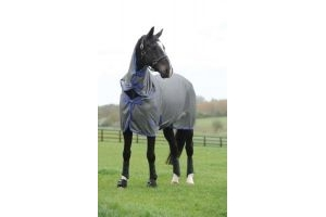 Weatherbeeta Genero Combo Mesh Fly Rug Grey/Purple 5'3