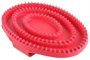Shires Rubber Curry Comb Pink
