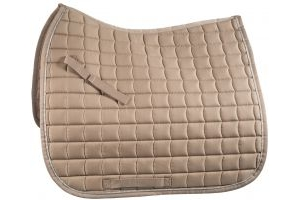 Horze Dressage Saddle Pad Taupe Grey/Silver