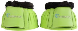 Arma Fleece Topped Over Reach Boot Bright Green