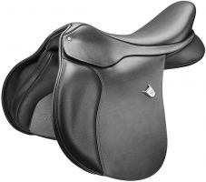 Bates All Purpose Square Cantle with Heritage Leather Saddle Black
