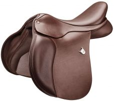 Bates All Purpose Square Cantle with Heritage Leather Saddle Classic Brown