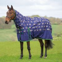 Bridleway Ontario 200g Medium Weight Combo Neck Turnout Rug Duck Print