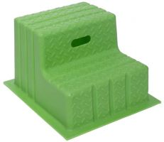Classic Showjumps Standard 2 Step Mounting Block Lime