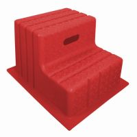 Classic Showjumps Standard 2 Step Mounting Block Red