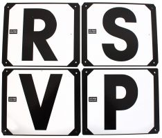 Dressage Letters Set of 4 RSVP