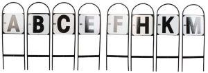 Dressage Letters Set of 8 CMBFAKEH