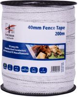 Fenceman Tape White 40mm 200m