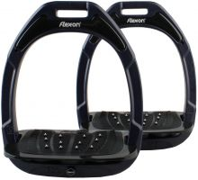 Flex-On Adults Green Composite Inclined Extra Grip Stirrup Navy/Black