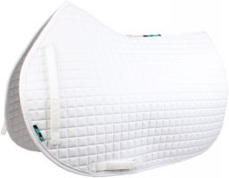 Griffin Nuumed High Wither Show Jumping Saddle Pad White