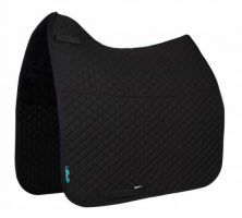 Griffin NuuMed HiWither Half Lined Wool Dressage Saddle Pad Black