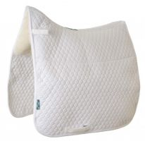 Griffin NuuMed HiWither Half Lined Wool Dressage Saddle Pad White